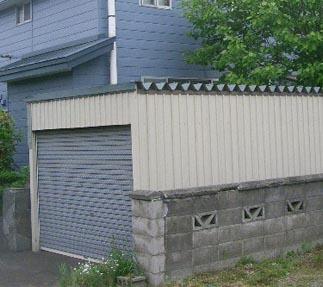 車庫の解体