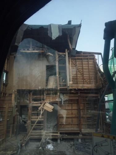 木造住宅解体工事写真