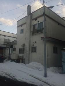 西区八軒の建物解体現場